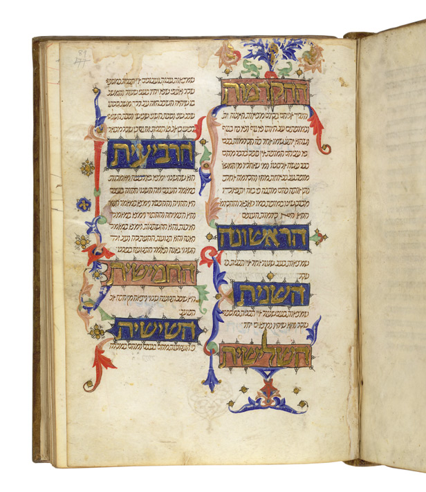 Maimonides' 'Guide to the Perplexed', c.1350, Spain f. 89